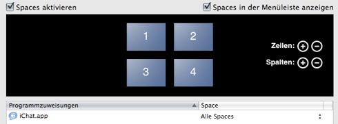 Spaces iChat
