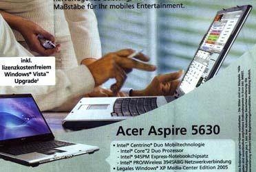 Acer mit OS X