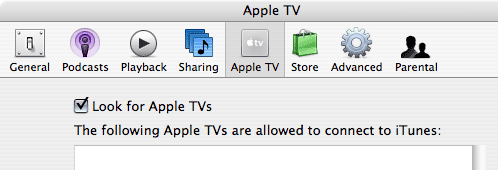 Apple TV iTunes