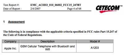 iPhone FCC