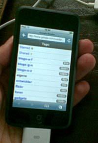 Google Reader auf dem iPod touch