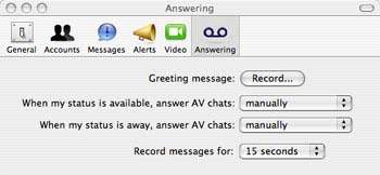 iChat-Anrufbeantworter