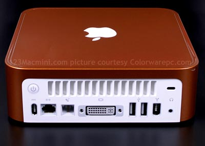 Mac mini in blaze