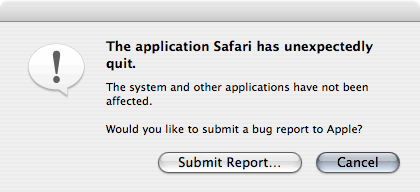 Safari Absturz
