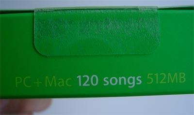 iPod shuffle Packung: PC+Mac