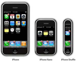 iPhone nano shuffle