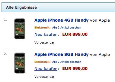 iPhone Preis bei Amazon