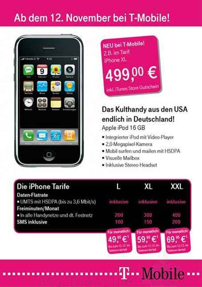 iPhone Tarife T-Mobile ?