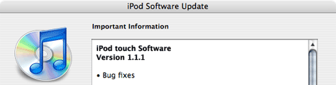 iPod touch Software 1.1.1