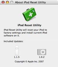iPod Reset Utility