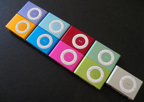 iPod shuffle Farben neu gegen alt
