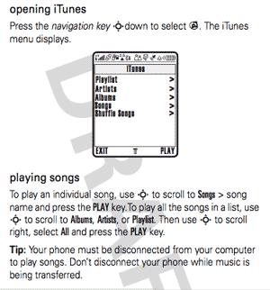iTunes mobile