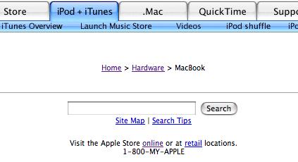 Macbook-Hinweis