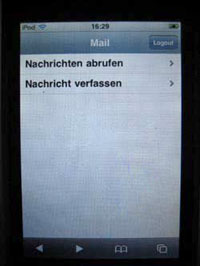 Webmail iPod touch