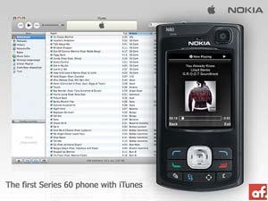 Nokia N80 mit iTunes