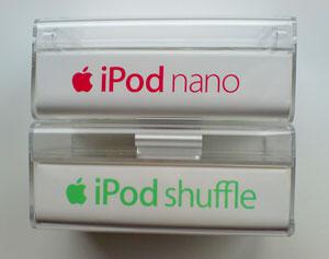 shuffle vs. nano Verpackung