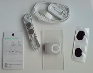 iPod shuffle Packungsinhalt