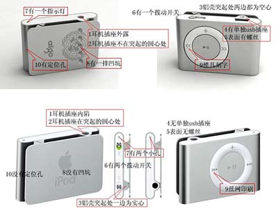 iPod shuffle Plagiat