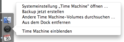 Time Machine Optionen