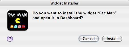 Widget Install